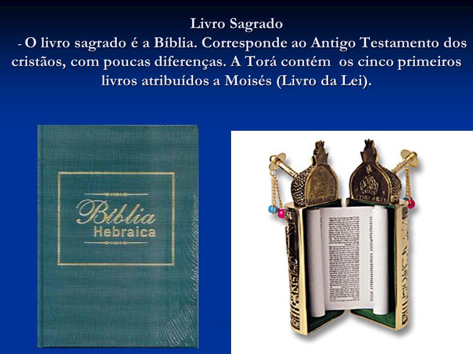 Livro Sagrado - O livro sagrado é a Bíblia.