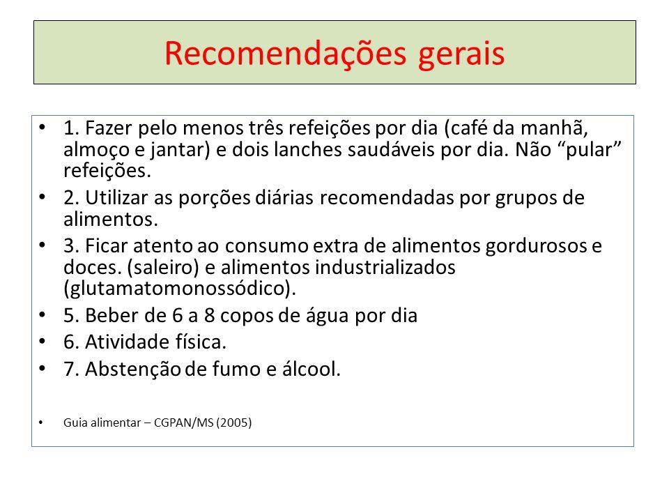 Recomendações gerais 1.