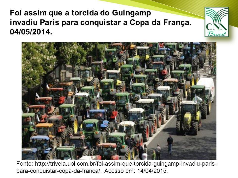 Foi assim que a torcida do Guingamp invadiu Paris para conquistar a Copa da França.