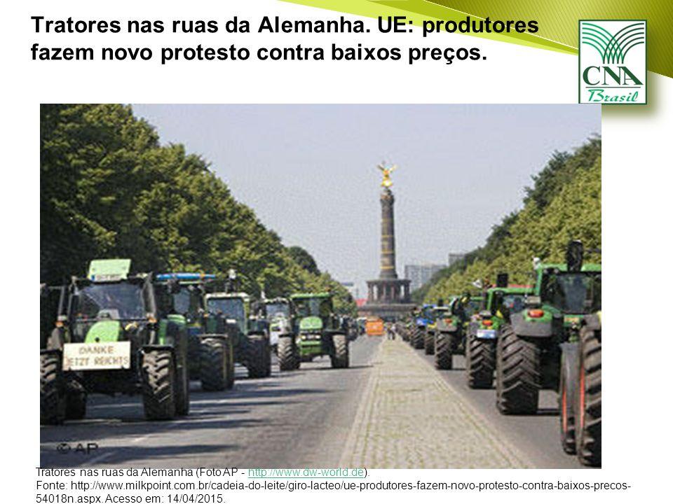 Tratores nas ruas da Alemanha. UE: produtores fazem novo protesto contra baixos preços.