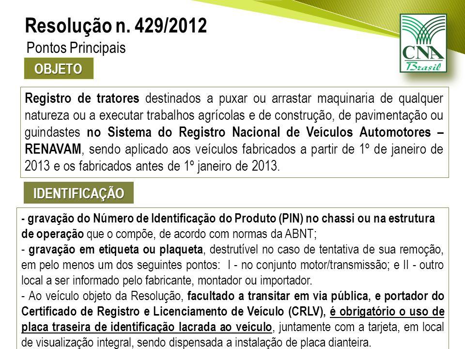 Da Identificação do Veículo (Artigo 114, Código de Trânsito Brasileiro) Art.