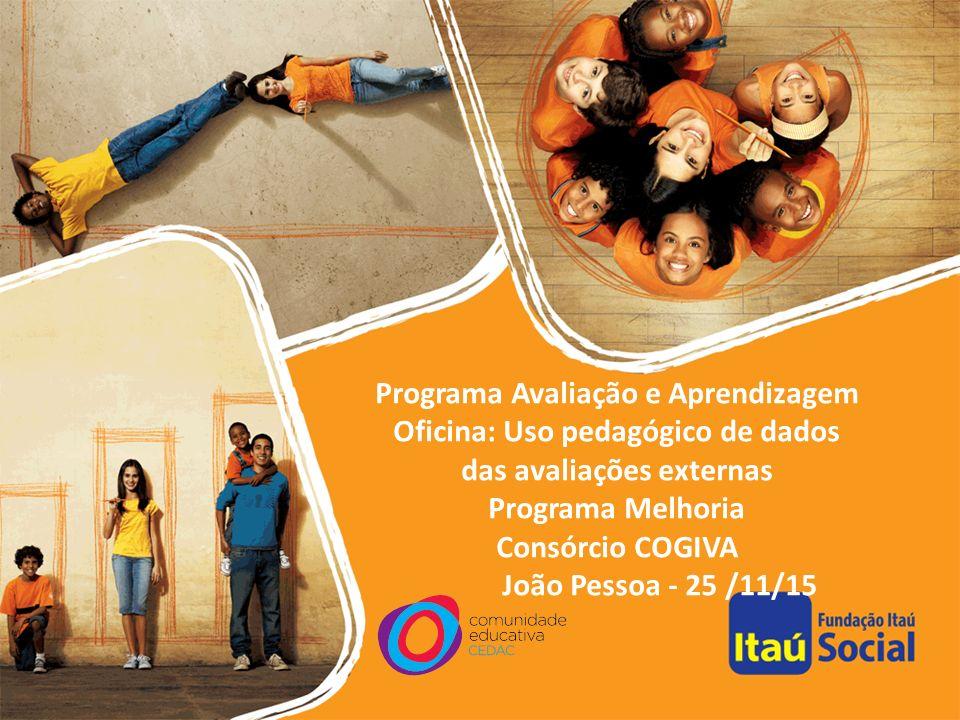 Programa Avaliação e Aprendizagem Oficina: Uso pedagógico de dados das avaliações externas Programa Melhoria Consórcio COGIVA João Pessoa - 25 /11/15