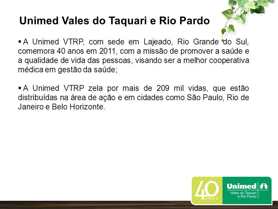 A Unimed VTRP abrange 59 Municípios nos Vales do Taquari, Rio Pardo e Região do Jacuí.