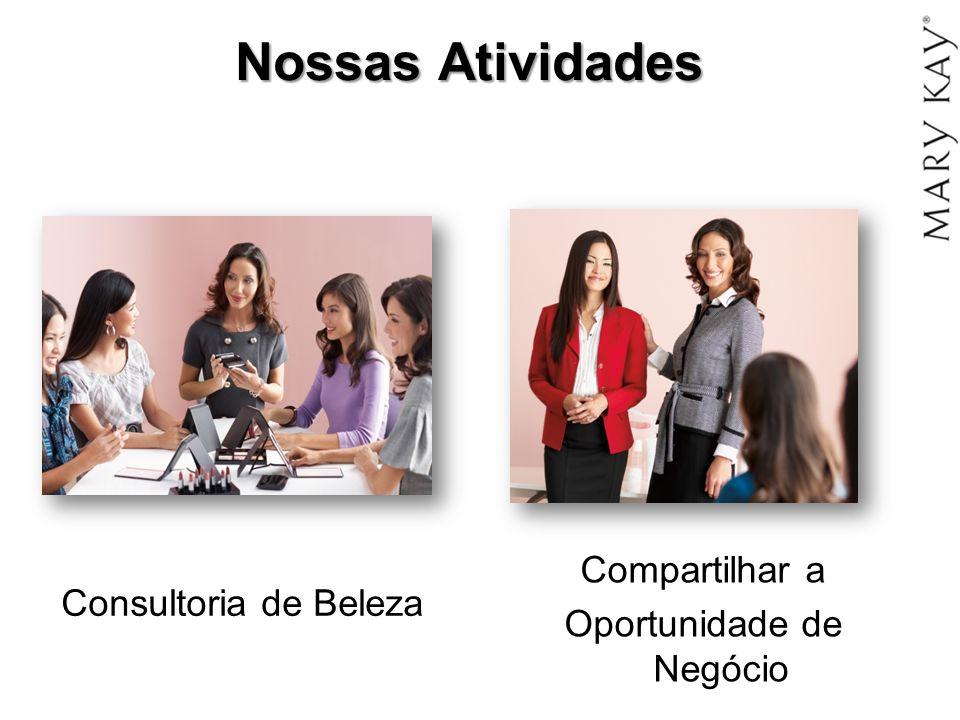 Nossas Atividades Consultoria de Beleza Compartilhar a Oportunidade de Negócio