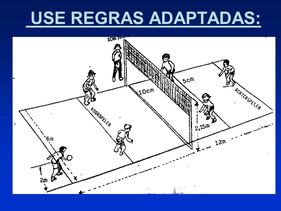 USE REGRAS ADAPTADAS: