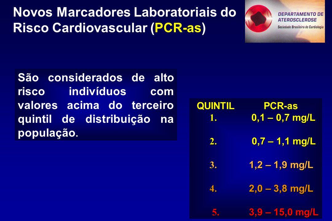 Novos Marcadores Laboratoriais do Risco Cardiovascular (PCR-as) QUINTIL PCR-as 1.