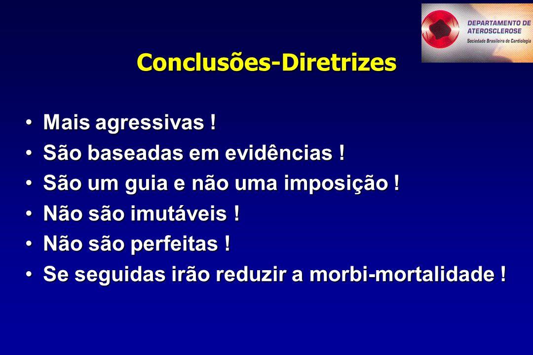 Conclusões-Diretrizes Mais agressivas !Mais agressivas .