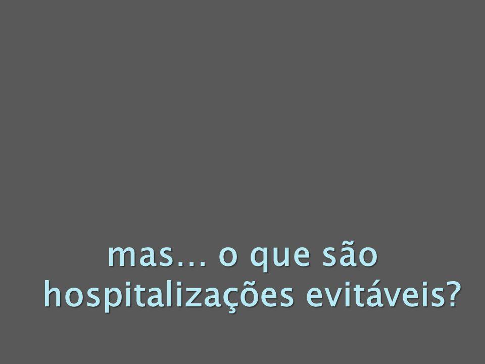mas… o que são hospitalizações evitáveis?