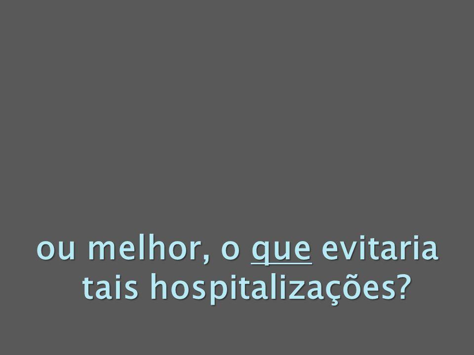 ou melhor, o que evitaria tais hospitalizações?