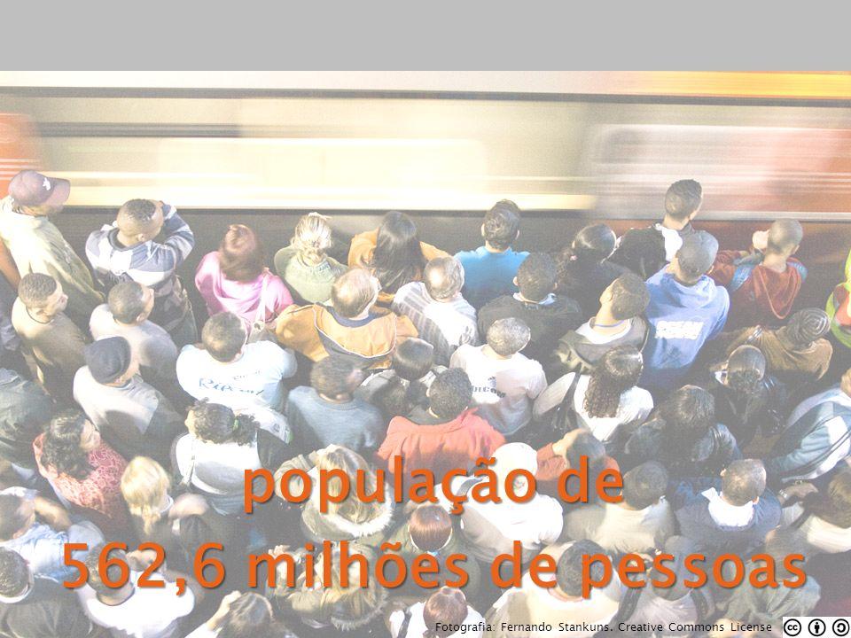 população de 562,6 milhões de pessoas Fotografia: Fernando Stankuns. Creative Commons License