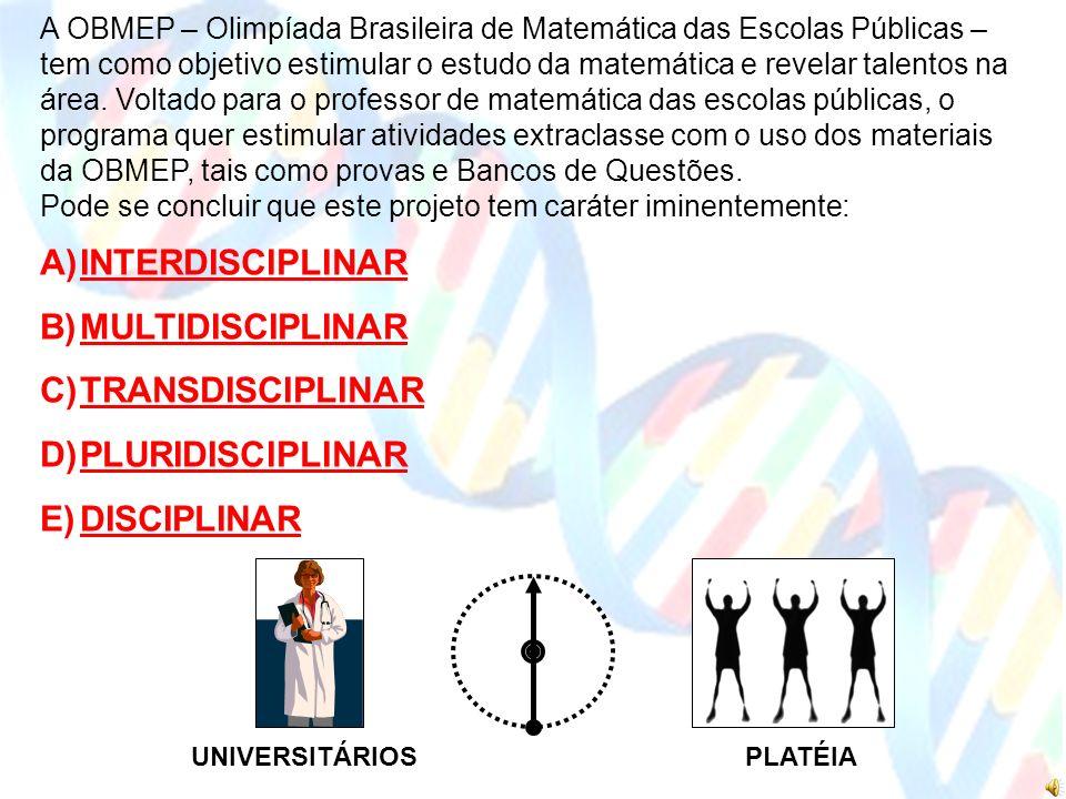 UNIVERSITÁRIOSPLATÉIA A OBMEP – Olimpíada Brasileira de Matemática das Escolas Públicas – tem como objetivo estimular o estudo da matemática e revelar talentos na área.