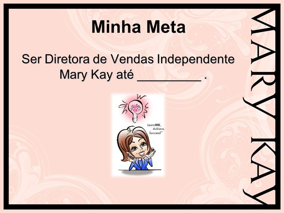 Minha Meta Ser Diretora de Vendas Independente Mary Kay até _________.