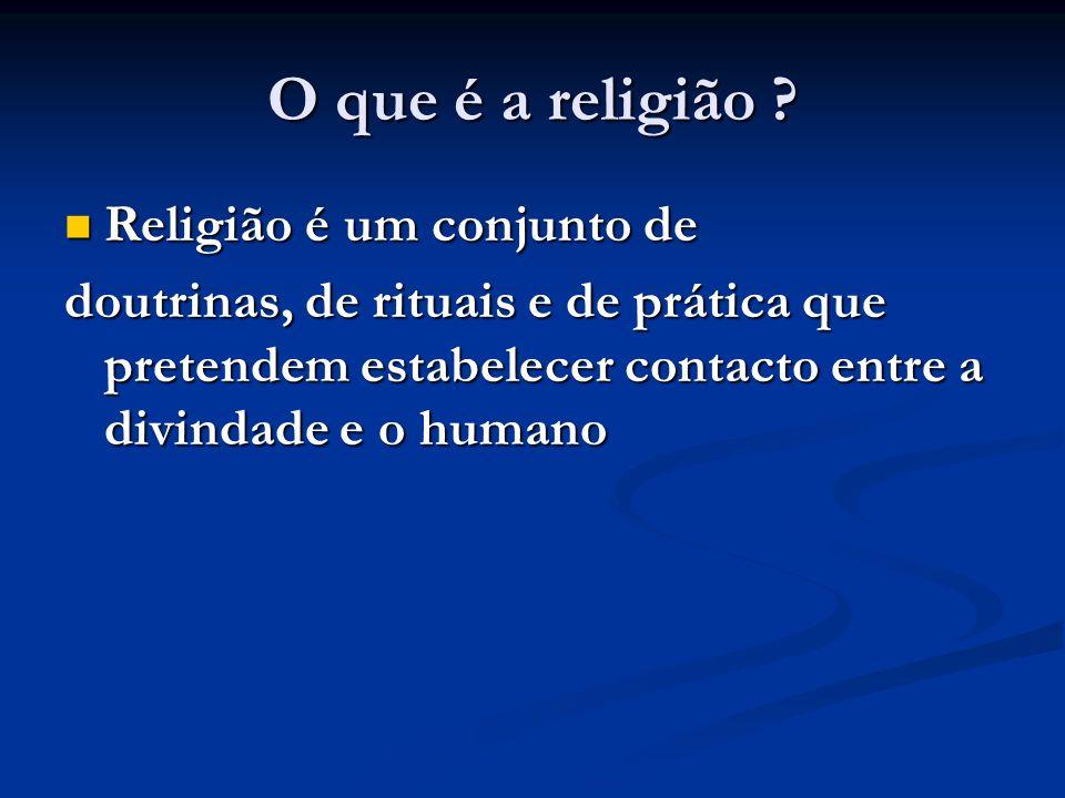 O que é a religião .