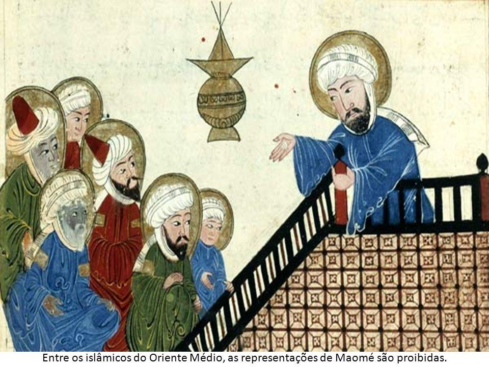 Entre os islâmicos do Oriente Médio, as representações de Maomé são proibidas.