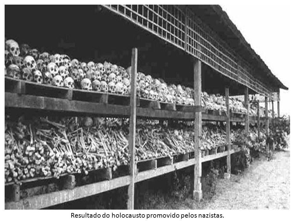 Resultado do holocausto promovido pelos nazistas.