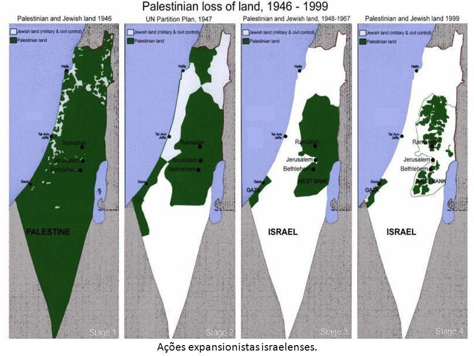 Ações expansionistas israelenses.