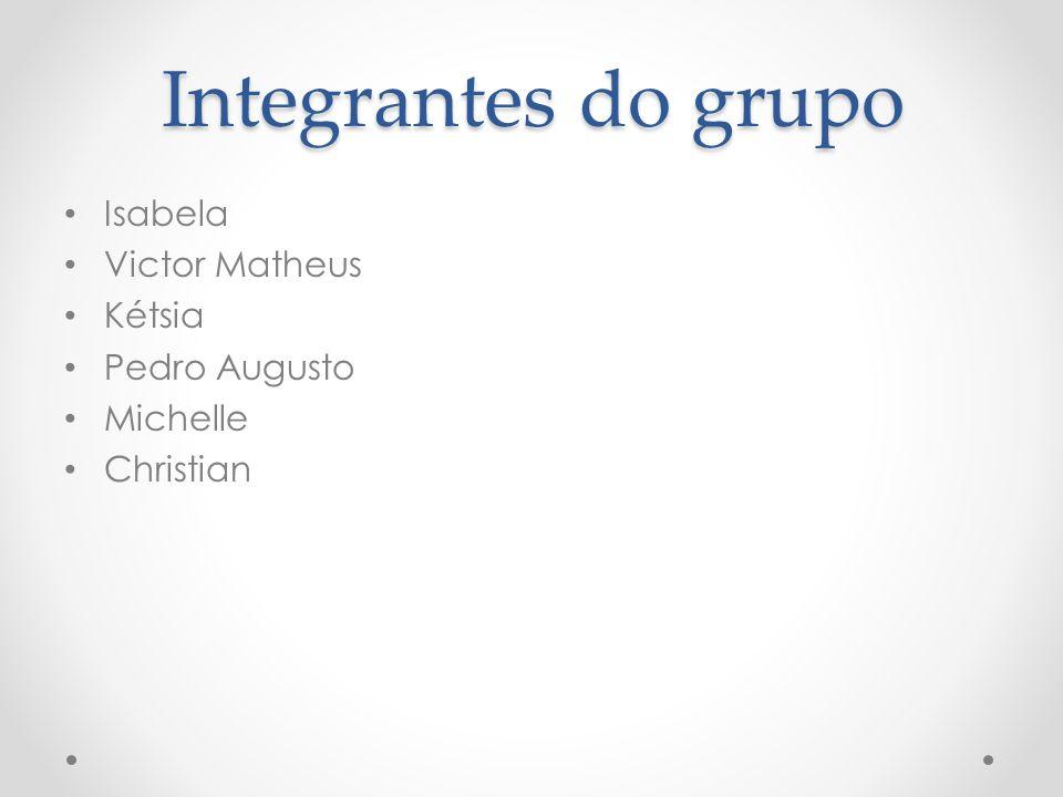 Integrantes do grupo Isabela Victor Matheus Kétsia Pedro Augusto Michelle Christian