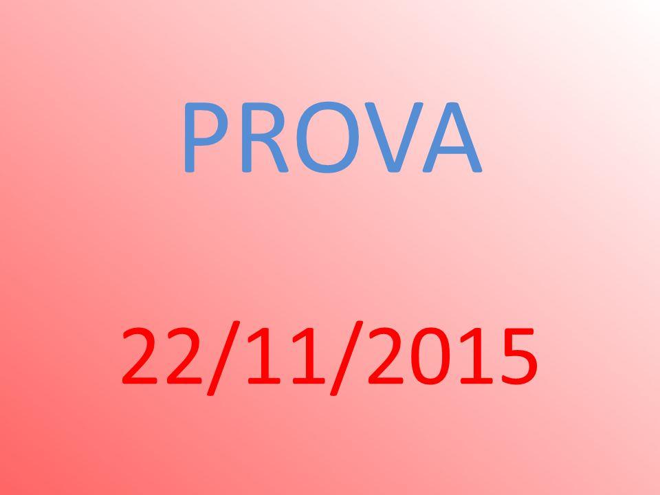PROVA 22/11/2015