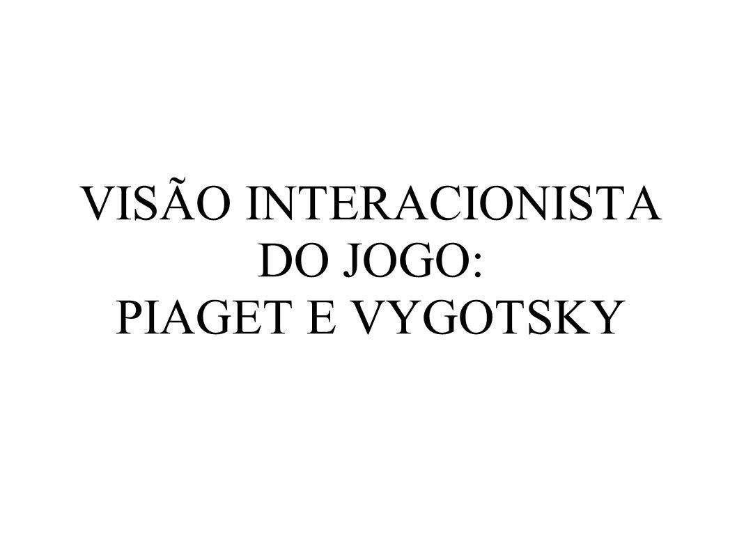 VISÃO INTERACIONISTA DO JOGO: PIAGET E VYGOTSKY