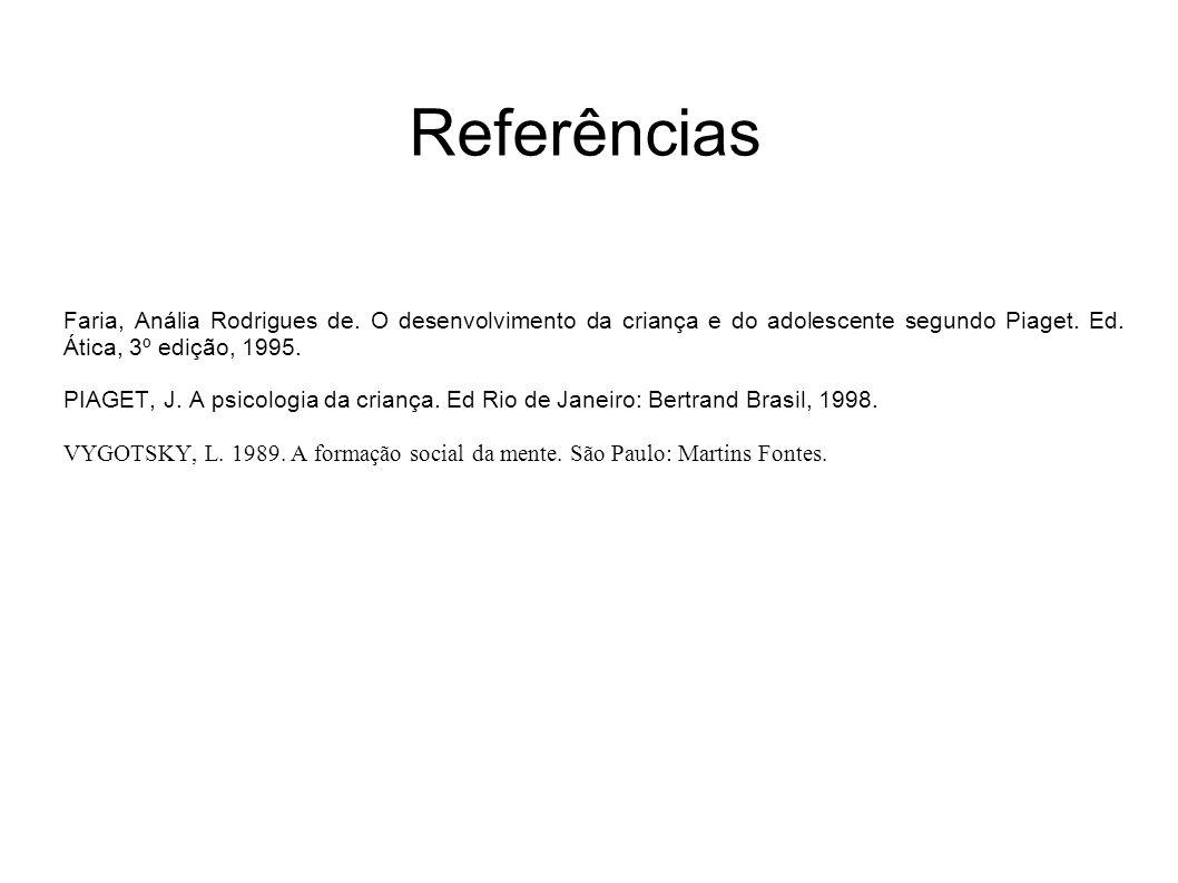 Referências Faria, Anália Rodrigues de.