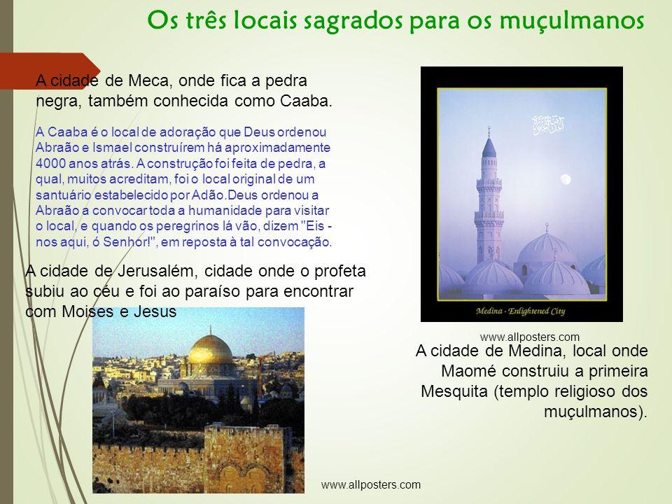 A cidade de Meca, onde fica a pedra negra, também conhecida como Caaba.