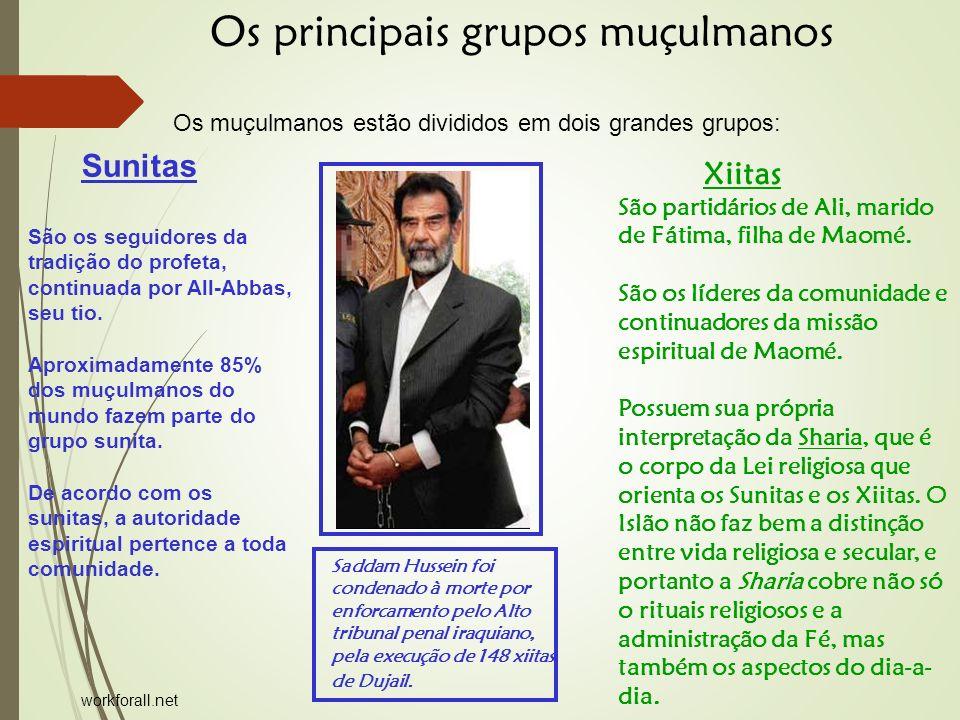 Xiitas São partidários de Ali, marido de Fátima, filha de Maomé.