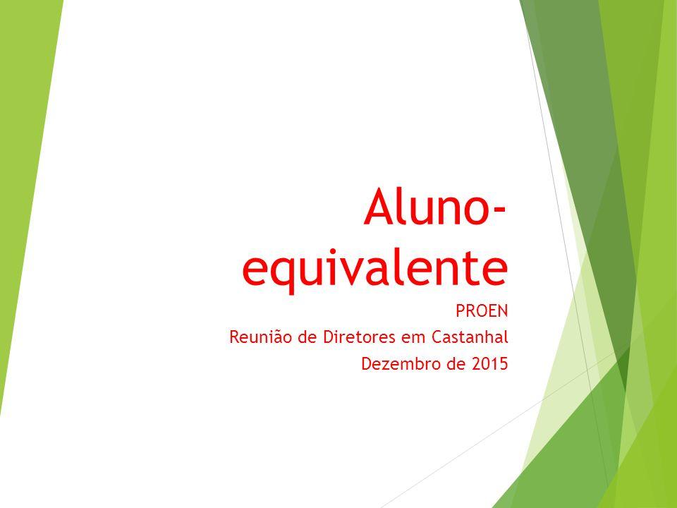 Aluno- equivalente PROEN Reunião de Diretores em Castanhal Dezembro de 2015