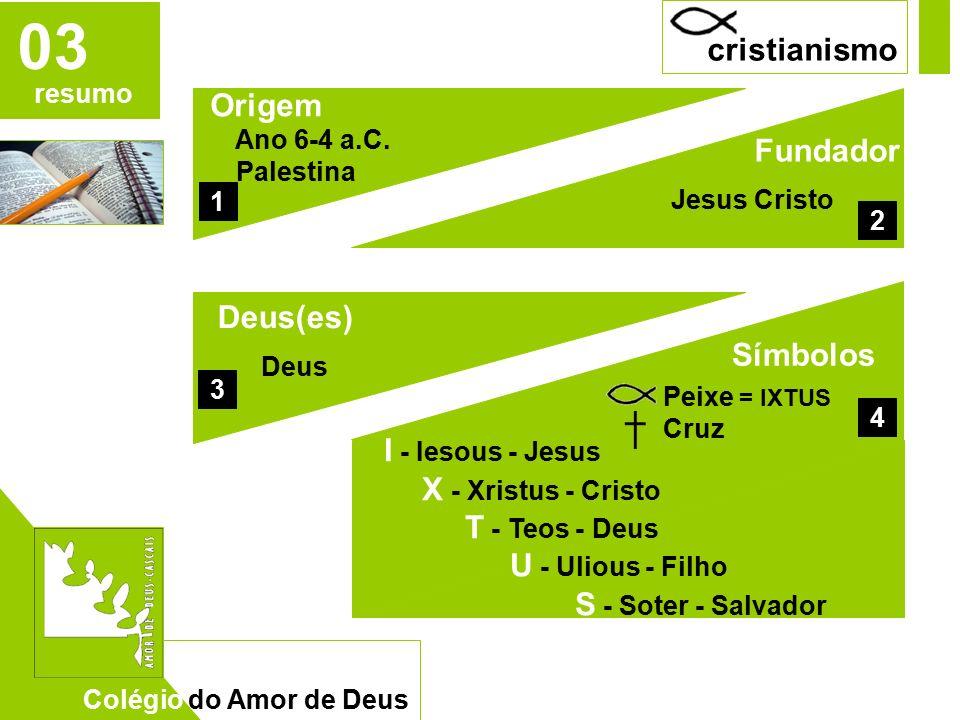 CAD 03 resumo Colégio do Amor de Deus cristianismo Origem Ano 6-4 a.C.
