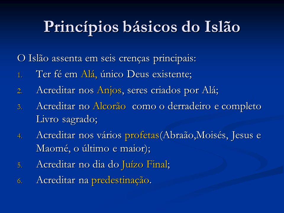 Princípios básicos do Islão O Islão assenta em seis crenças principais: 1.