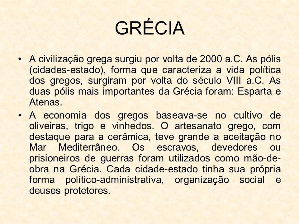 A civilização grega surgiu por volta de 2000 a.C.