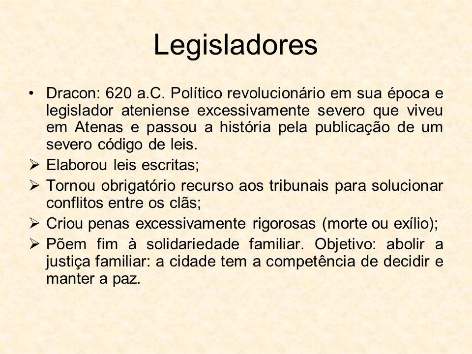 Legisladores Dracon: 620 a.C.