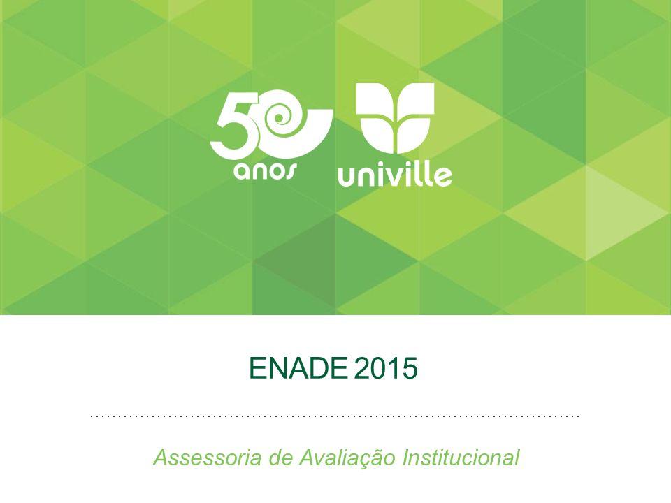 ENADE 2015 Assessoria de Avaliação Institucional