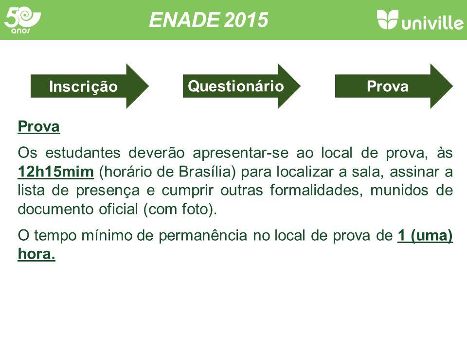 ENADE 2015 Concluintes Conceito ENADE Infraestrutura Org.