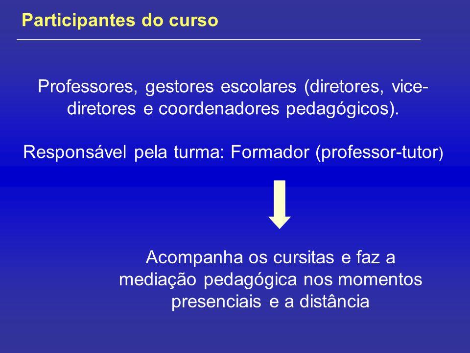 Materiais do curso Conteúdos e atividades ambiente e-Proinfo Materiais de leitura: Web e/ou disponibilizado no e-Proinfo