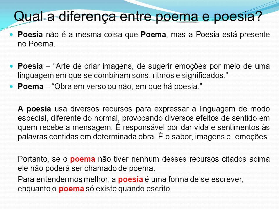 Qual a diferença entre poema e poesia.