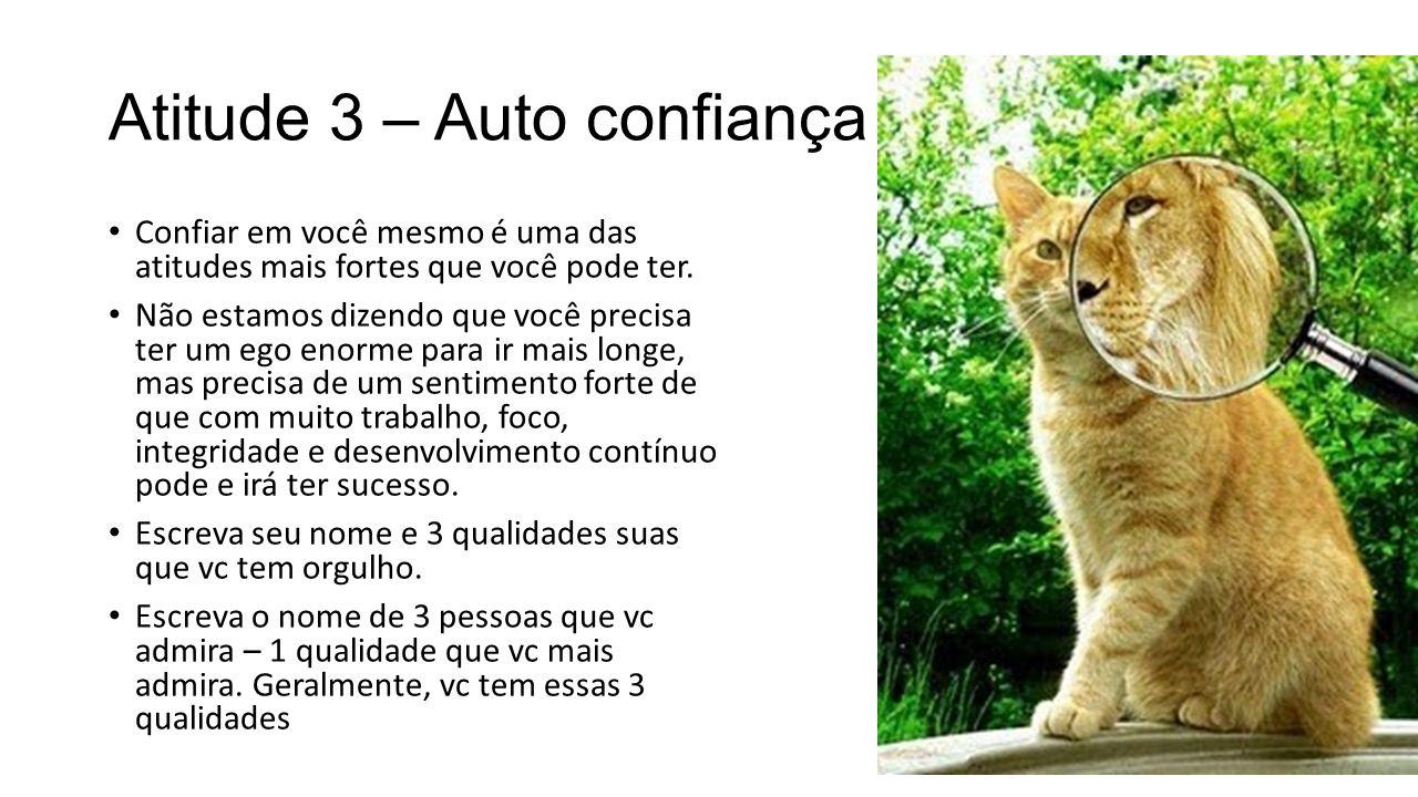 Atitude 4 - Visão Visão: pessoas de sucesso tem sempre uma visão forte e bem definida do que querem.