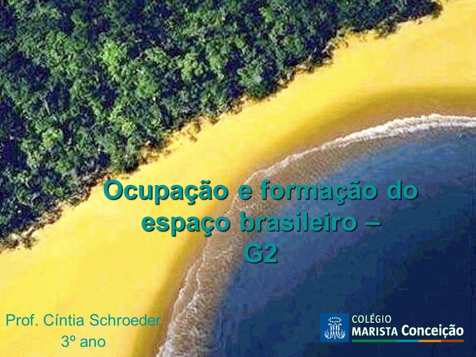 Ocupação e formação do espaço brasileiro – G2 Prof. Cíntia Schroeder 3º ano