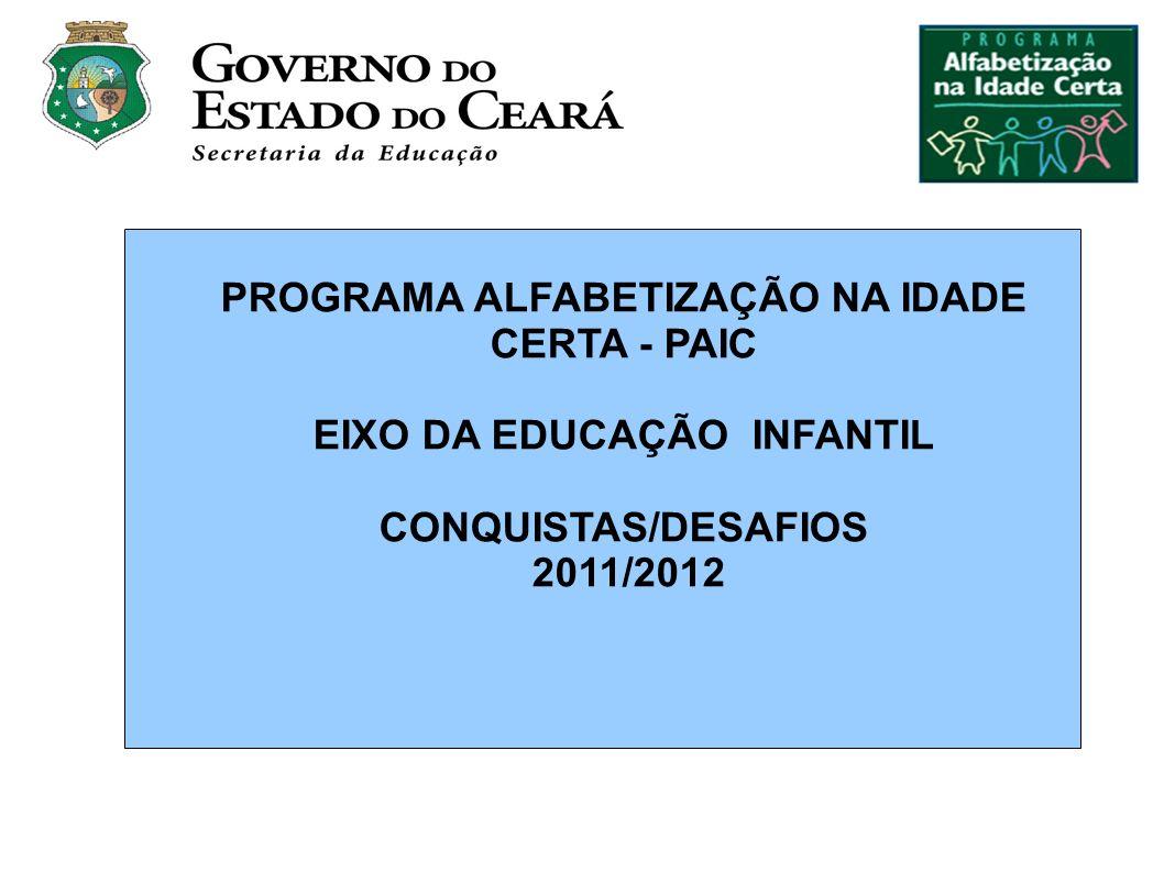 PROGRAMA ALFABETIZAÇÃO NA IDADE CERTA - PAIC EIXO DA EDUCAÇÃO INFANTIL CONQUISTAS/DESAFIOS 2011/2012