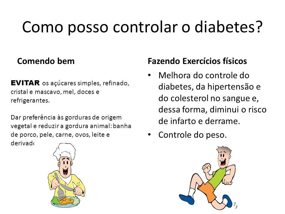 Como posso controlar o diabetes.