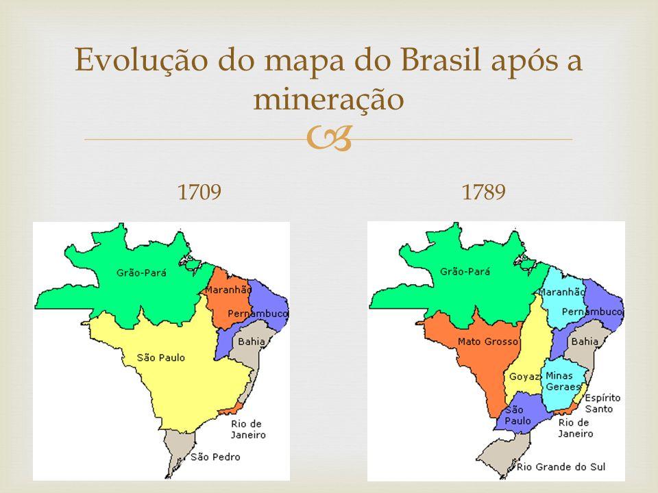  Evolução do mapa do Brasil após a mineração 17091789