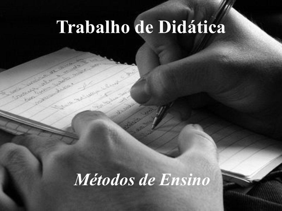 Conceito de Método de Ensino: Procedimentos de ensino, estratégia, métodos e técnicas.