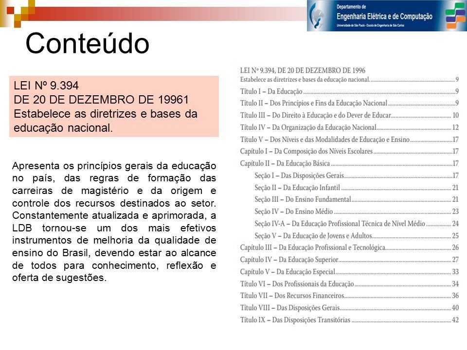 TÍTULO I DA EDUCAÇÃO Art.