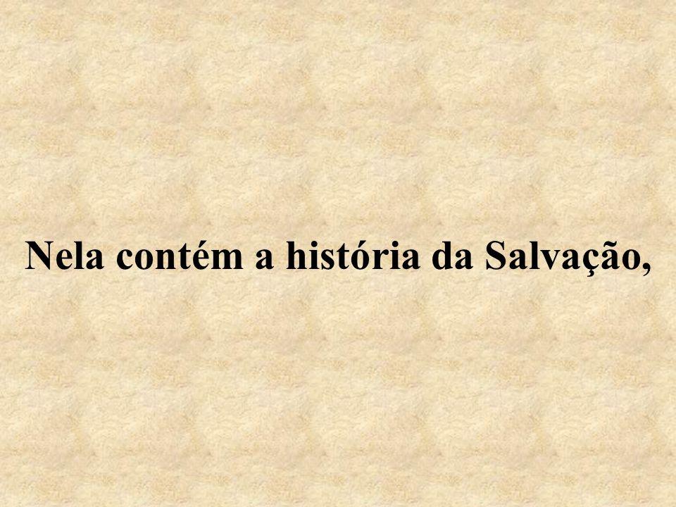 Nela contém a história da Salvação,