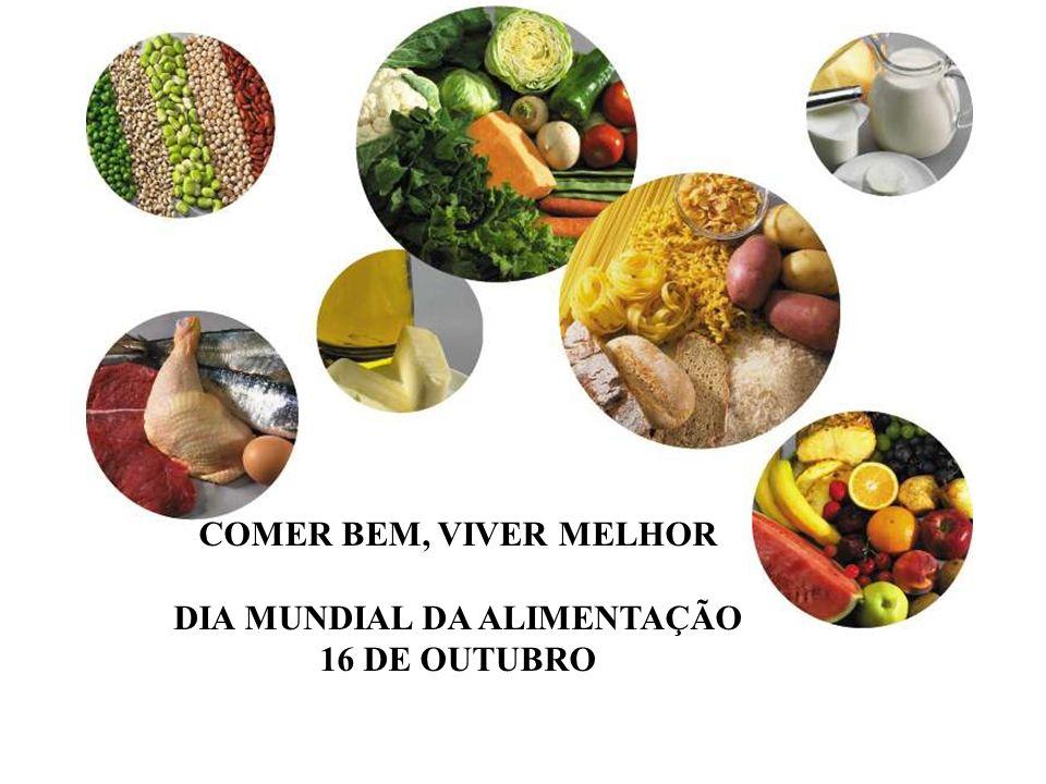 COMER BEM, VIVER MELHOR DIA MUNDIAL DA ALIMENTAÇÃO 16 DE OUTUBRO