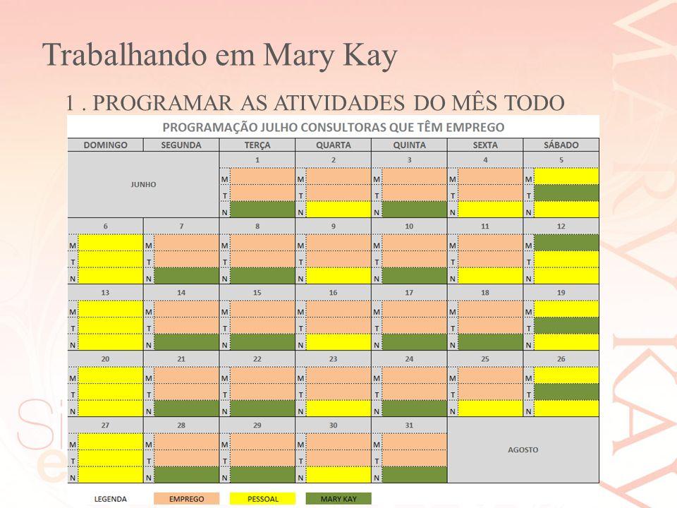 Trabalhando em Mary Kay Silvana Lopes Ribeiro Diretora de Vendas Independente Mary Kay 1. PROGRAMAR AS ATIVIDADES DO MÊS TODO