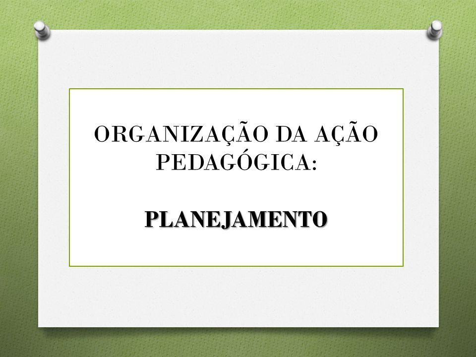 Modalidades Organizativas do Trabalho Pedagógico O Integração/articulação entre as áreas do conhecimento O Organização do tempo pedagógico