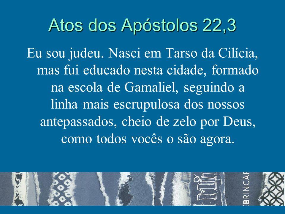 Atos dos Apóstolos 22,3 Eu sou judeu.