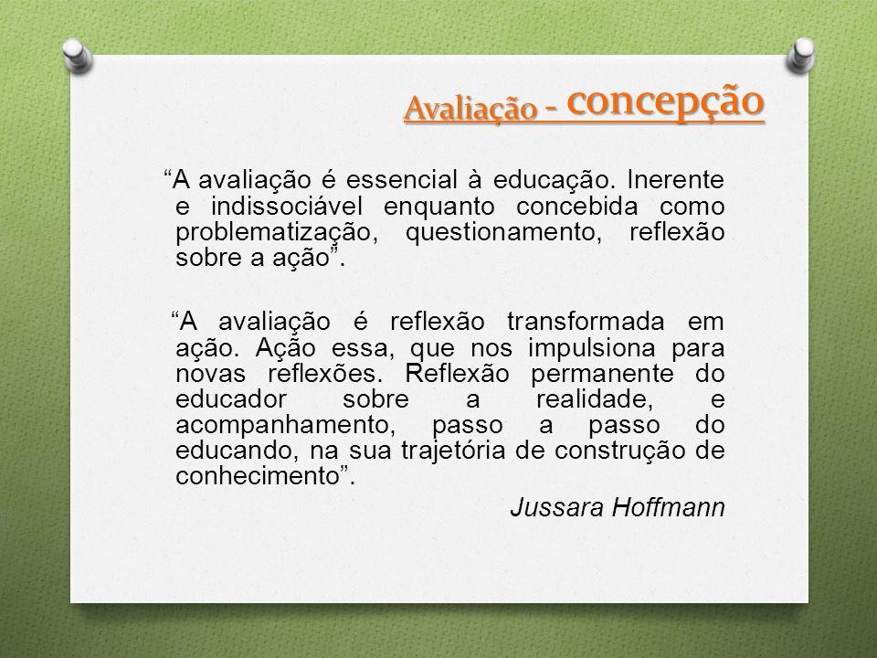 Avaliação - concepção A avaliação é essencial à educação.