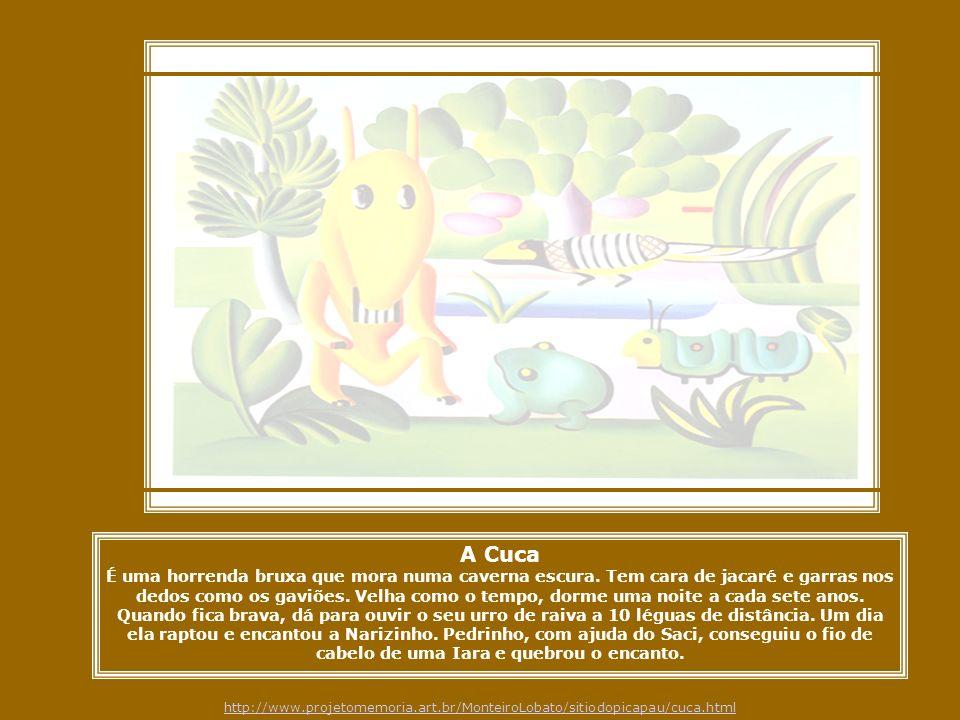 A Cuca Tarsila pintou este quadro no começo de 1924 e escreveu à sua filha dizendo que estava fazendo uns quadros bem brasileiros , e a descreveu como um bicho esquisito, no meio do mato, com um sapo, um tatu, e outro bicho inventado .