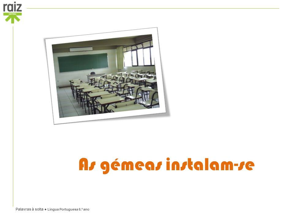 Palavras à solta ● Língua Portuguesa 6.º ano As gémeas instalam-se